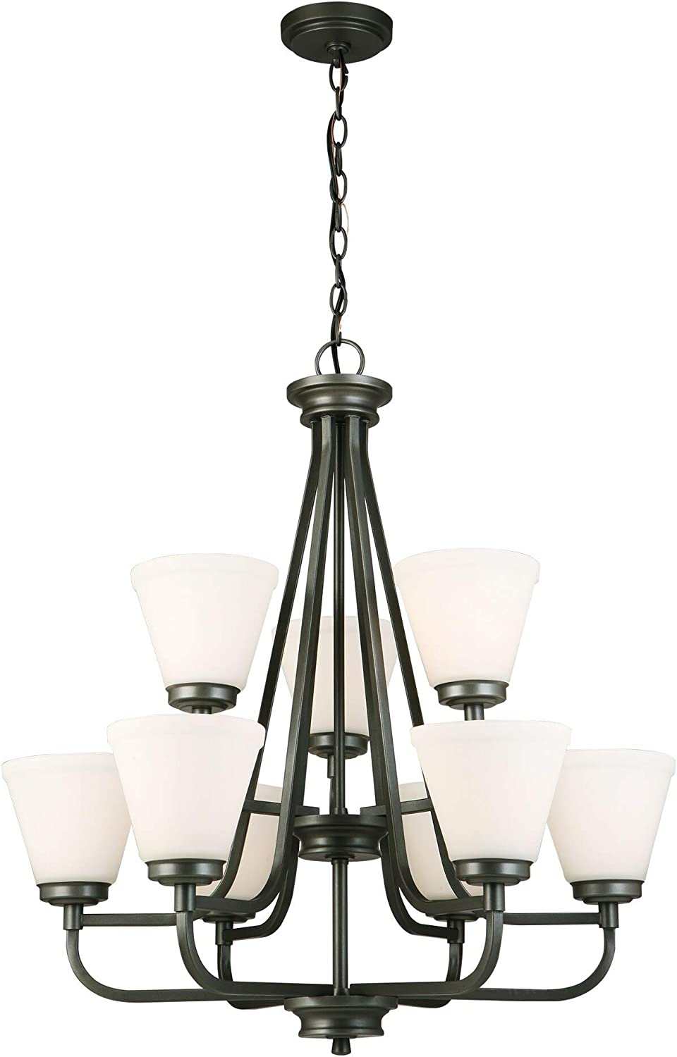 Gorgeous EGLO Complete Free Shipping 202902A Mayview Graphite 30-Inch Chandeliers