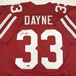 Autographed/Signed Ron Dayne Wisconsin Red College Football Jersey Tristar COA