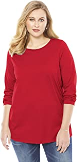Women's Plus Size Long-Sleeve Crewneck Ultimate Tee