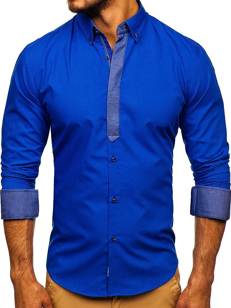 Bolf, camicia elegante a manica lunga da uomo BOLF 3725