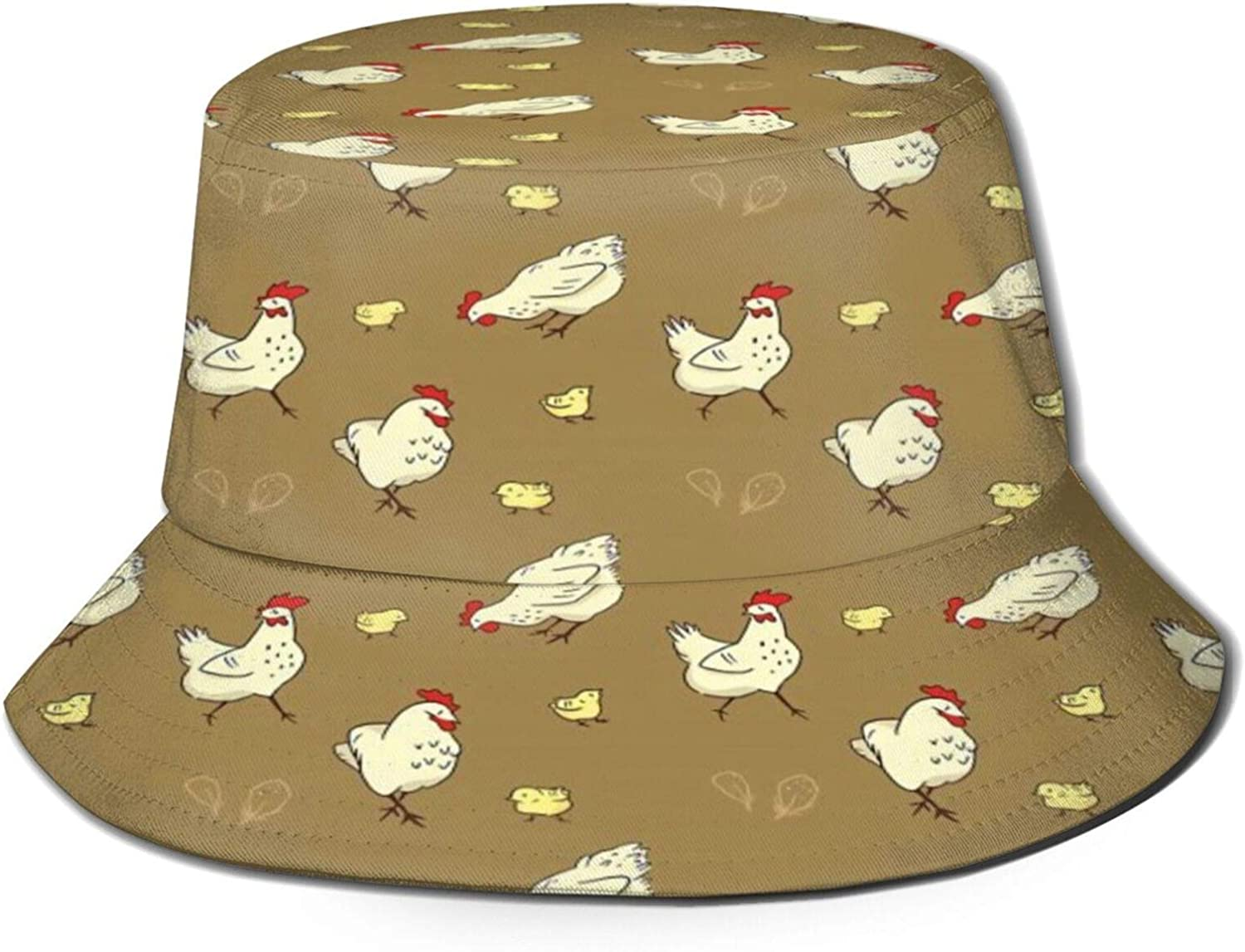 Mom Baby Chick Repeat Max 58% OFF Pattern Bucket Chicago Mall Unisex P Sun Hat Summer