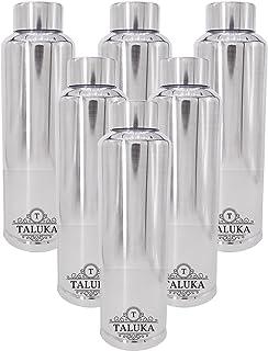 "Taluka (10"" X 2.8"" Inch) Stainless Steel Water Bottle Fridge Water Bottle 1000 ML Hold & Cold Water Bottle 6 PC Drinking Ware"