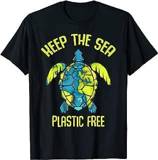 Keep The Sea Plastic Free Turtle Plastic Pollution Problem T-Shirt