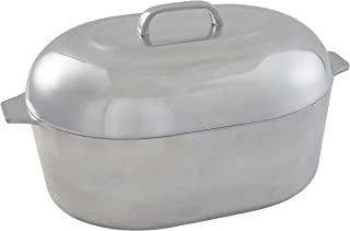 IMUSA USA IMU-89303 Heavy Duty Cajun Oval Cast Aluminum Roaster 18
