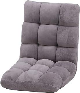 不二貿易 座椅子 幅42cm グレージュ 42段階調整 軽量 ふわもこ 38148