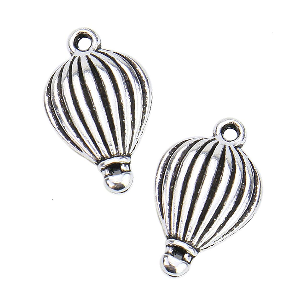 Monrocco Hot Air Balloon Charm Bead Pendant for Jewelry Making Key Chain Crafting 21x13mm.