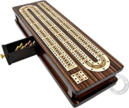 House of Cribbage - Continuous Cribbage Board / Box Inlaid in Rosewood / Maple 12