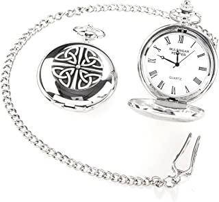 Irish Crafted Vintage Style Trinity Pocket Watch by Mullingar Pewter