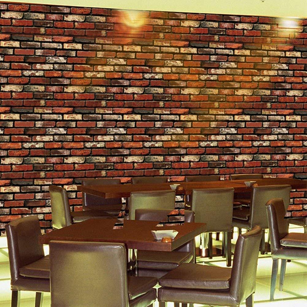 5, A1 Leisu 3D ladrillo papel pintado Dise/ño Creativo Wallpaper adhesivo de pared removible pelar y pegar Para el Hogar Y Embellecimiento De La Pared Buenos Productos 45x200 cm