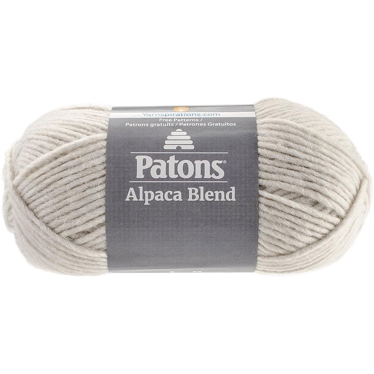 Patons  Alpaca Blend Yarn - (5) Bulky Gauge  - 3.5oz -  Birch -  Machine Washable  For Crochet, Knitting & Crafting