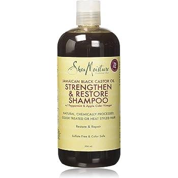 Humectación de karité, aceite de ricino negro jamaicano, champú fortalecedor/crecimiento y restauración, 506 ml.: Amazon.es: Belleza