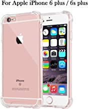 Dashmesh Shopping Shock Proof Protective Anti Shock, Soft Transparent Back Case for iPhone 6 Plus/6s Plus [Bumper Corners with Air Cushion Technology