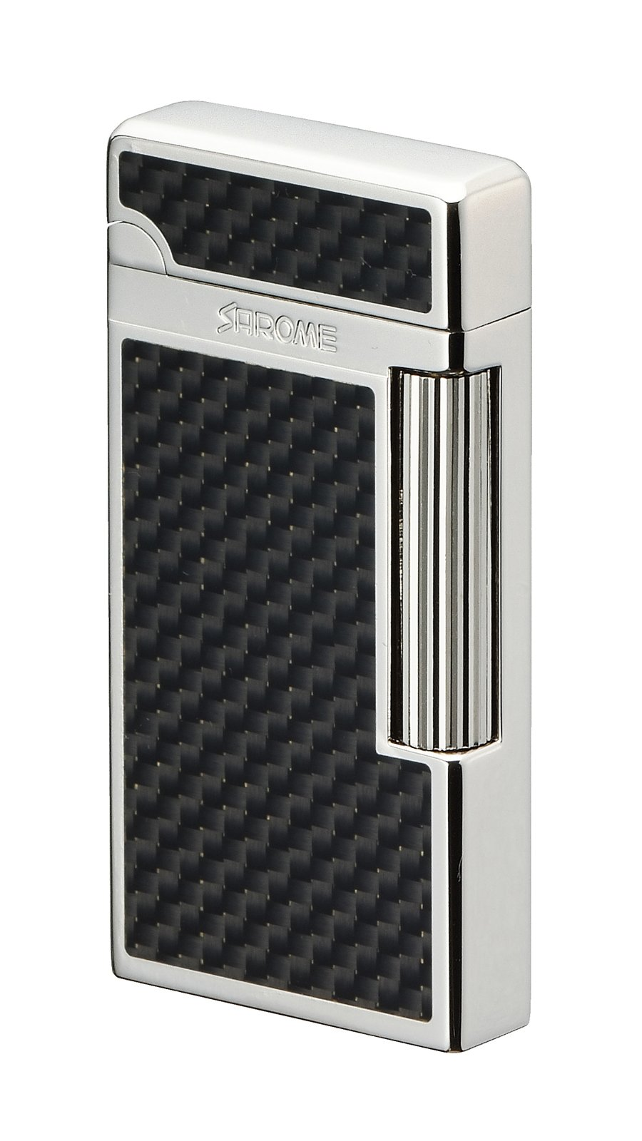Sarome Flint Lighter SD6A-03 Silver / Black carbon fiber