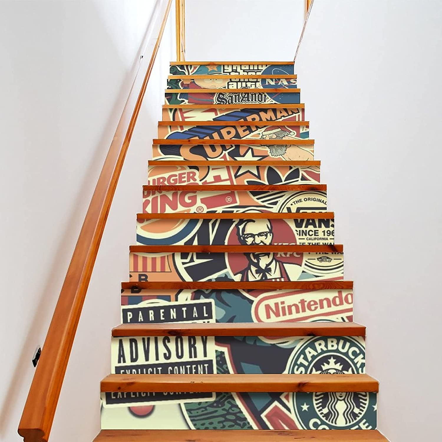 Weekly Inspiration Dose Directly managed store Max 62% OFF Stair Stickers Decals Brick De Staircase