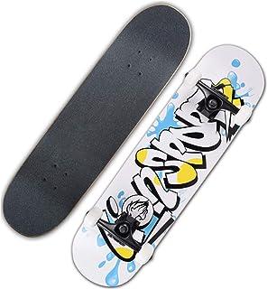ألواح تزلج احترافية مقاس 31 × 8 بوصة للمبتدئين ، وألواح تزلج كروزر كاملة من 7 طبقات من القيقب ، لوحة,Ns1086
