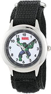 Marvel Boys' Hulk Black Time Teacher Watch