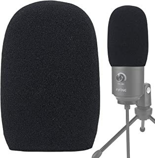 YOUSHARES Foam Mic Windscreen - Wind Cover Pop Filter Compatible with Fifine USB Microphone (669B) for Recording and Strea...