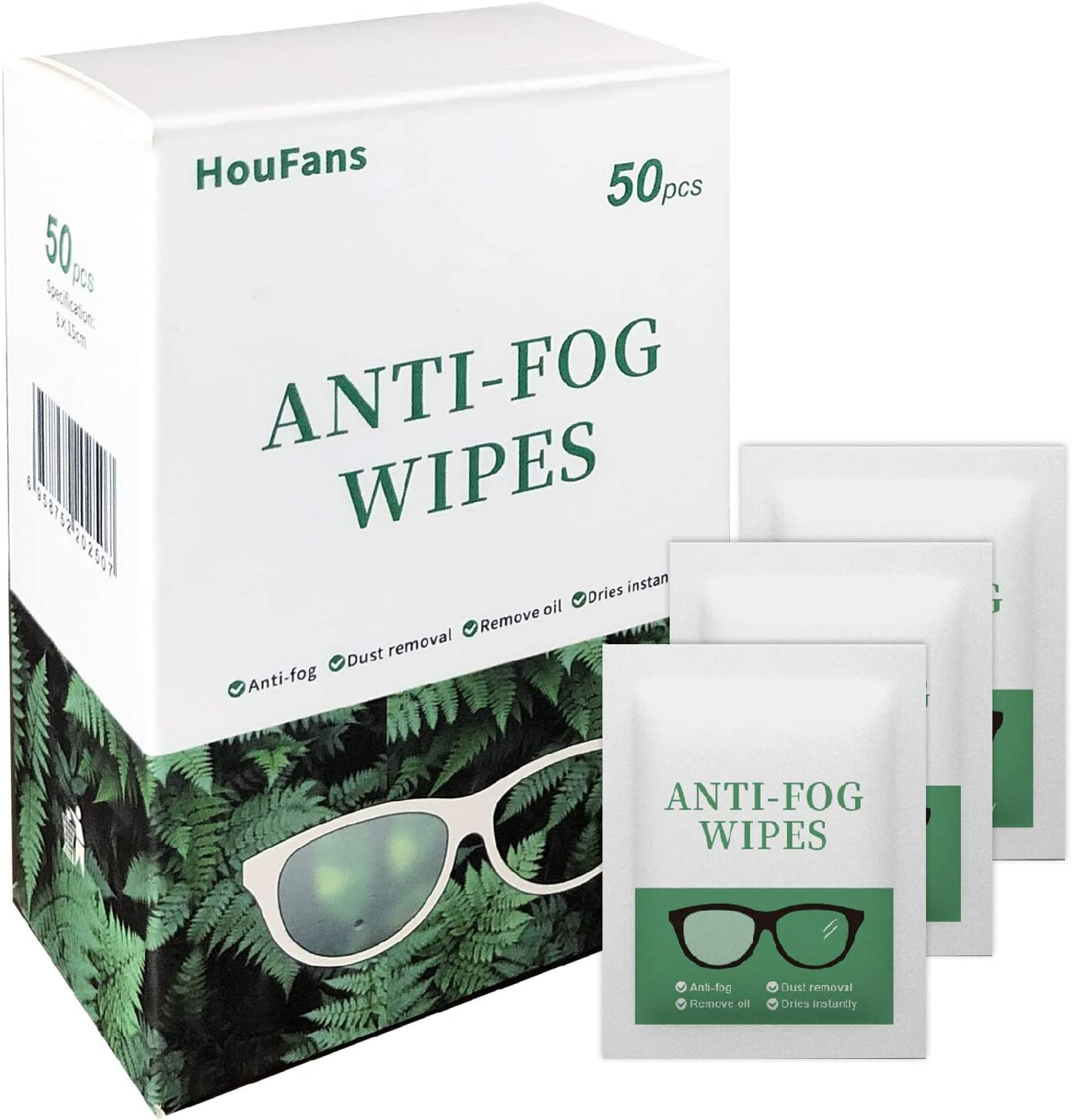 Anti-Fog Reservation Wipes for Glasses Pr Easy-to-use Lens Cleaning Eyeglass