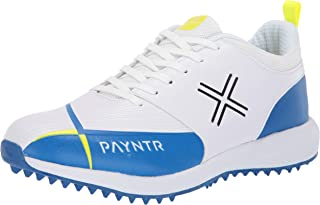 Payntr V Pimple - White & Blue Cricket Shoes - US12/UK11