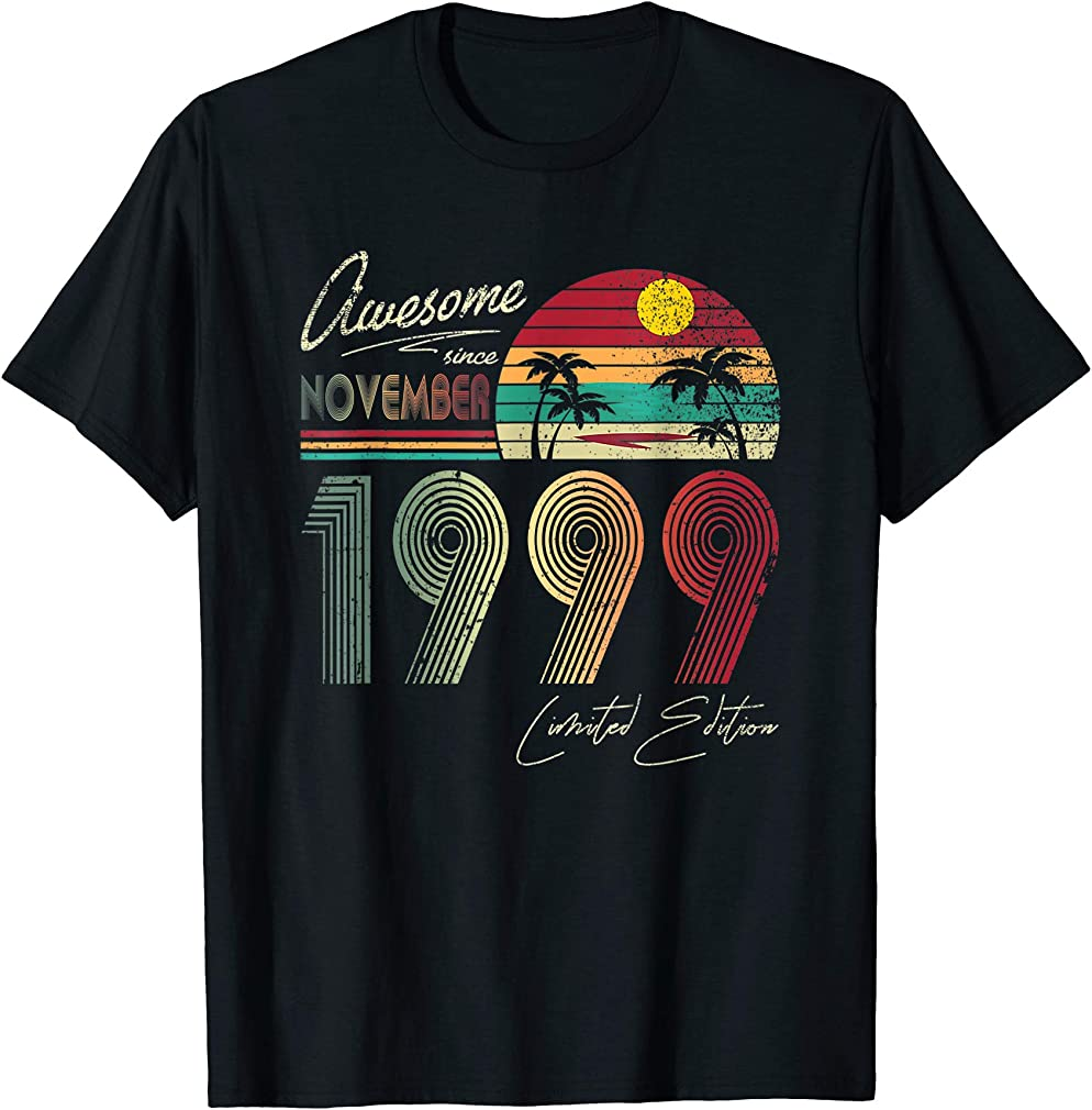 Awesome Since November 1999 20th Birthday Gift 20 Yrs Old T-shirt