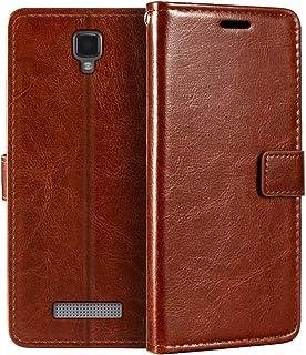 ZTE Blade L5 plånboksfodral, premium PU-läder magnetiskt flipfodral med korthållare och ställ för ZTE Blade L5 Plus