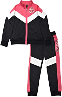 Dreamstar 2PC Tricot Training Tracksuit Pants and Top for Girls, Kids, Teens