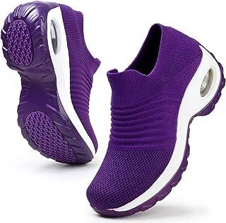 Womens Walking Tennis Shoes Slip On Light Weight Mesh...