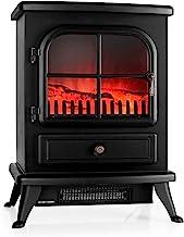 KLARSTEIN St. Moritz - Chimenea eléctrica Virtual, Calefactor, Calefacción Independiente del Calefactor, 1850 W, termostato Ajustable, Libre de Fuego y Humo, leña Decorativa, Negro