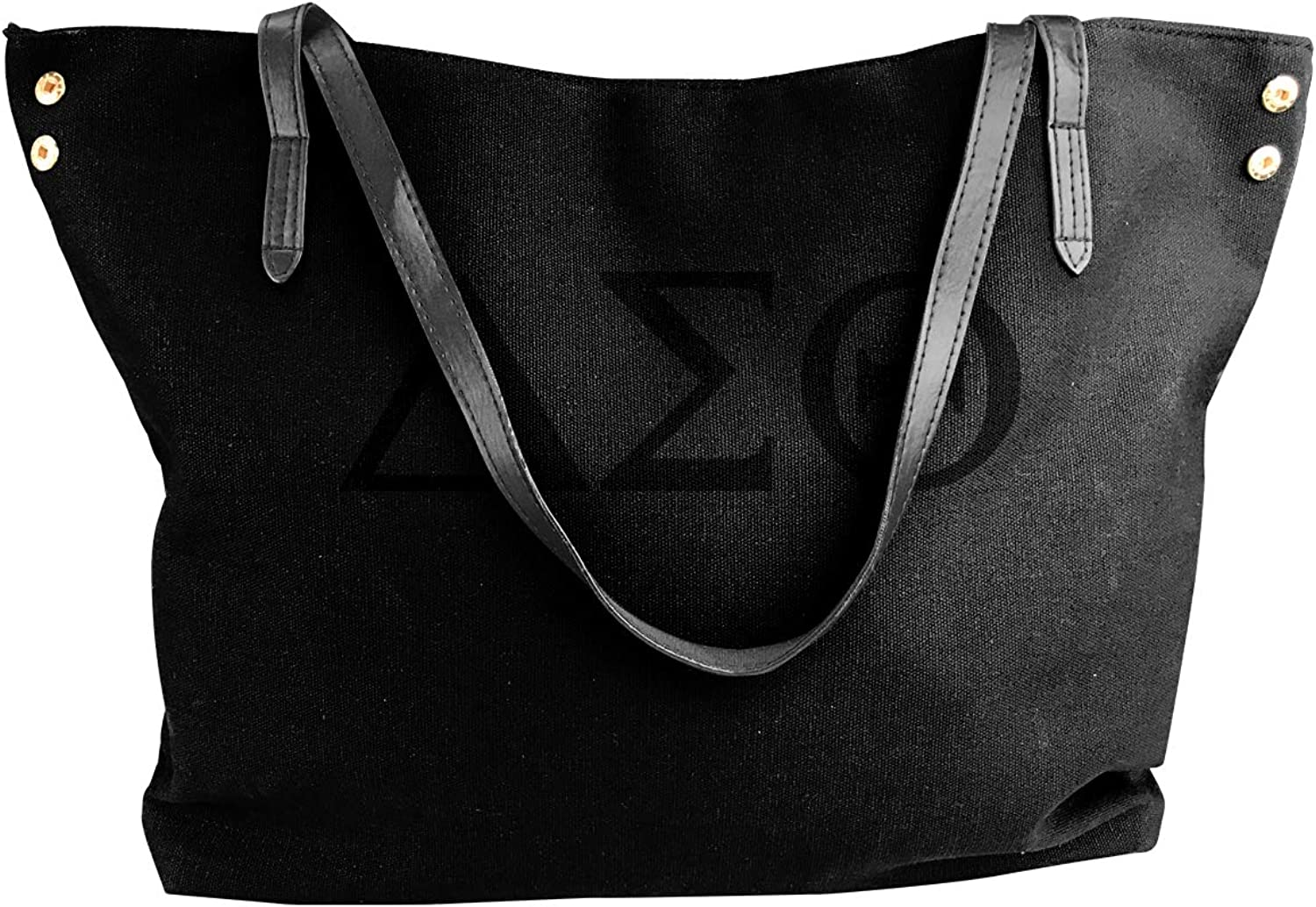 DeltaSigmaTheta Women Tote Bags Canvas Shoulder Handbags Satchel Purse Bag