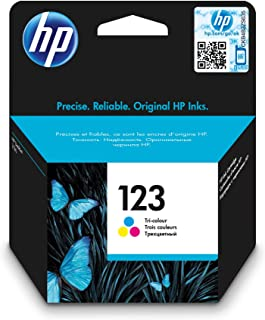 HP 123 Tri-color Ink Cartridge, Cyan/Magenta/ Yellow - F6V16AE