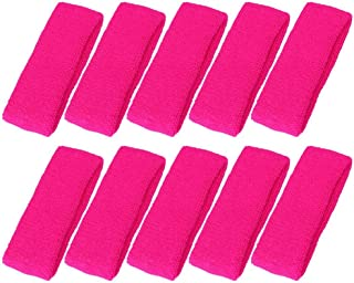 Mallofusa 10 PCS Sports Basketball Headband/Sweatband Head Sweat Band/Brace Gift Party Outdoor Activities