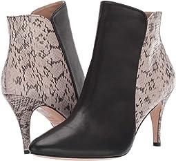 Black Leather/Beige Marked