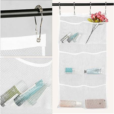 Bath Storage Bathroom Shower Hanging Mesh Organizer Caddy Wall Bags Stable B1K6