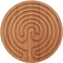 "Finger Labyrinth for Meditation and Prayer - BambooMN - 6"" Diameter - Cretan Style - 1 Piece"