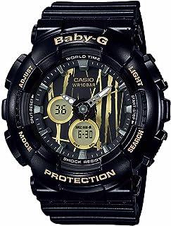 Casio Baby-G BA120SP-1A Scratch Pattern Black Analog Digital Watch Womens