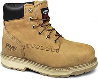 Mens Traditional Leather Lace up Toe Cap Work Safety Boot