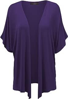 MBJ Womens Short Sleeve Kimono Style Cardigan - Made in USA