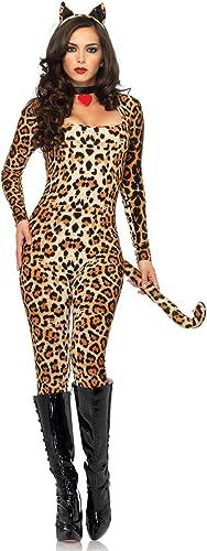 Leg Avenue Lycra Catsuit Cougar Adult costume