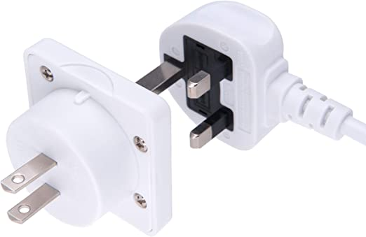 Uk To Us Adapter England American Socket 3 Or 2 Pin To Elektronik