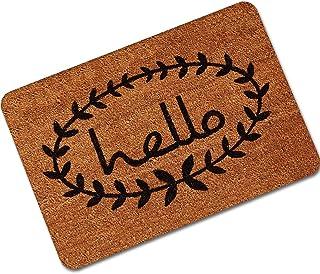 Hello Welcome Door Mat Bathroom Water Absorption Non-Slip Mat Carpet Rug