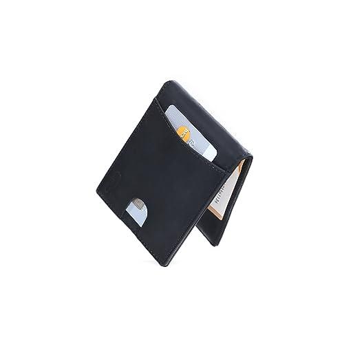 c76e77b41f6701 CRS Wallet Geldbörse mit Münzfach & Geldklammer | RFID Schutz | Kompaktes  Design | Echtleder Portmonee