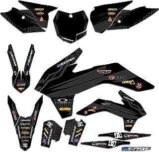 Senge Graphics kit compatible with KTM 2013-2014 SXF, Mayhem Black Graphics Kit
