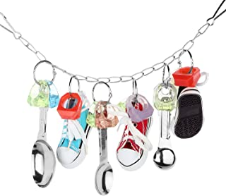Bvanki Parrot Spoon Sneaker Toy, Bird Cage Swing Toy, Parrot Hanging Chewing Toys for Entertaining African Grey, Amazon Conure, Cockatoo and Macaw, Cockatiel