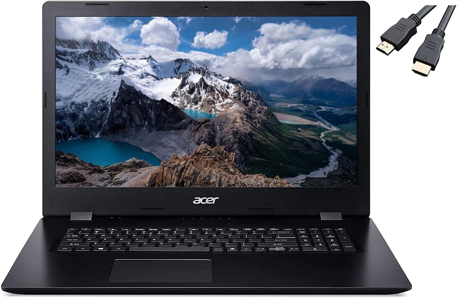 2021 Newest Acer Aspire 3 17.3'' HD+ Laptop, 4-core Intel i5-1035G1(up to 3.60 GHz), 20GB RAM 1TB HDD+256GB PCIe SSD, HDMI WiFi RJ-45 Bluetooth Webcam DVD-RW, Win 10 w/Ghost Manta Accessories