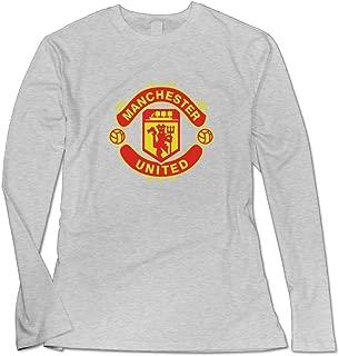Women's Manchester United FC Logo Long Sleeve Shirt.
