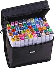 KKmoon Marcadores de 40 cores Caneta de marcação de ponta dupla Esboço Escrita Pintura Marcador sublinhado Artista desenha...