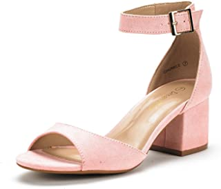 Women's Chunkle Low Heel Pump Sandals Ankle Strap Dress Shoes