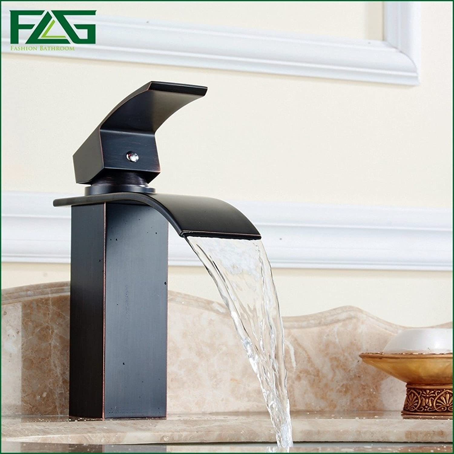 Electroplating Retro Faucet Electroplating Retro Faucet FLG Basin Faucet Square Waterfall Oil Rubbed Bronze Sink Faucet Vessel Faucet Griferia Lavabo Bathroom Basin Sink Taps M221O,nickel