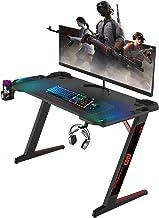 ONV Gaming Desk,Gaming Computer desks,Premium Home Office PC Table for Gamer Pro, Black Gaming...