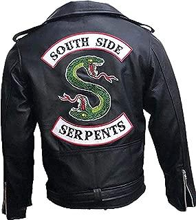 Men's Black Faux Leather Slim Fit Jacket